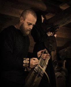 Historically informed: Einar Selvik with one of his Norse instruments