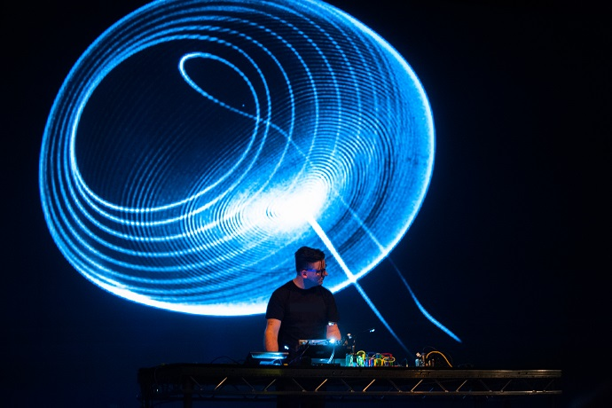 Mark Lyken and his new work, Oscillon
