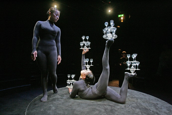 Acrobats in 'A Premonition of the Act'