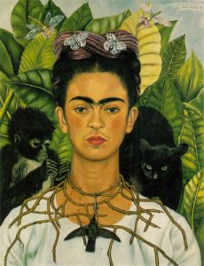 Frieda Kahlo's Self-Portrait with Thorn Necklace and Hummingbird