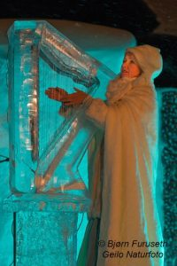 Iro Haarla plays the ice harp
