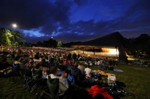Concerts take place outdoors at the Blossom Music Festival