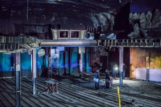 Inside the State Cinema in Leith, Edinburgh, before the work begins